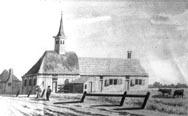 Kerk Oudesluys in 1791. Getekend door H. Tavenier.