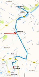 Route stations Anna Paulowna of Schagen naar Oudesluis